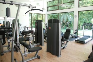 Fitness equipment at The Haven Spa