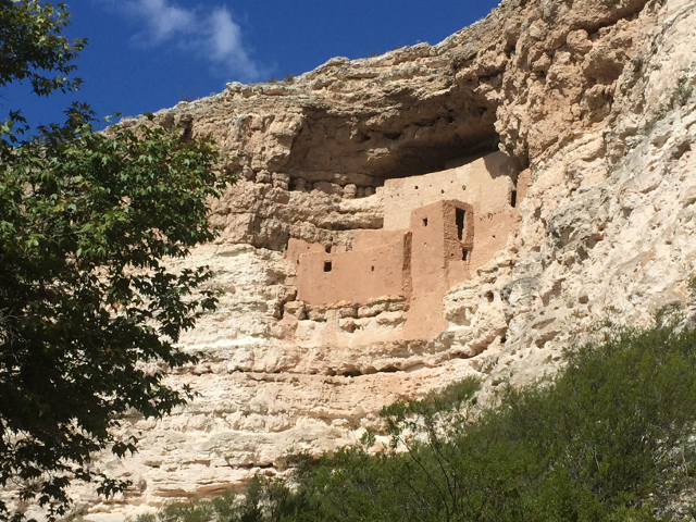 Montezuma's Castle is a small town that Indians built into the face of a mountain in central Arizona. It's a very popular national monument.