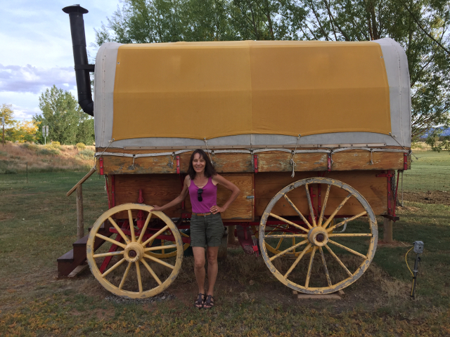 This wagon is available for rent for people who want to know what it was like to be a western pioneer in Utah.