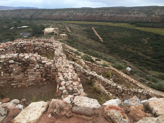 Rooms constructed by Indians at the Tuzigoot National Monument.