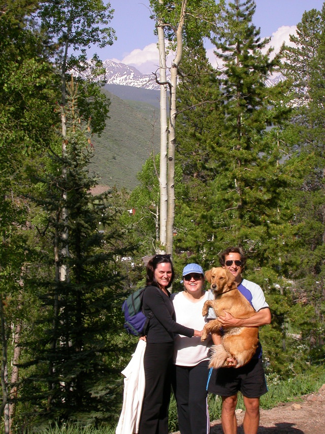 Carol visited us in Vail in summer 2003 so we walked up the mountain.